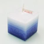"""nuri candle キャンドル作家 福間乃梨子 手作りアロマキャンドル""""しましまアロマ"""" ラベンダー [NU-PR-SHIMA02]"""