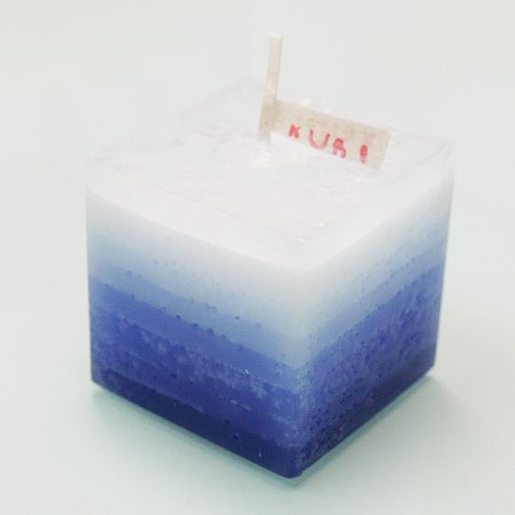 """nuri candle キャンドル作家 福間乃梨子 手作りアロマキャンドル""""しましまアロマ""""ラベンダー [NU-PR-SHIMA02]"""