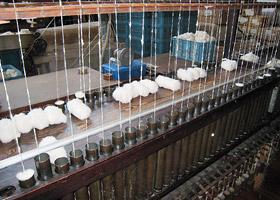 ガラ紡績機