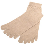 ORGANIC GARDEN(オーガニックガーデン) 彩土染め・生成り 綿100%5本指 重ね履き用 インナーソックス [NS8180]