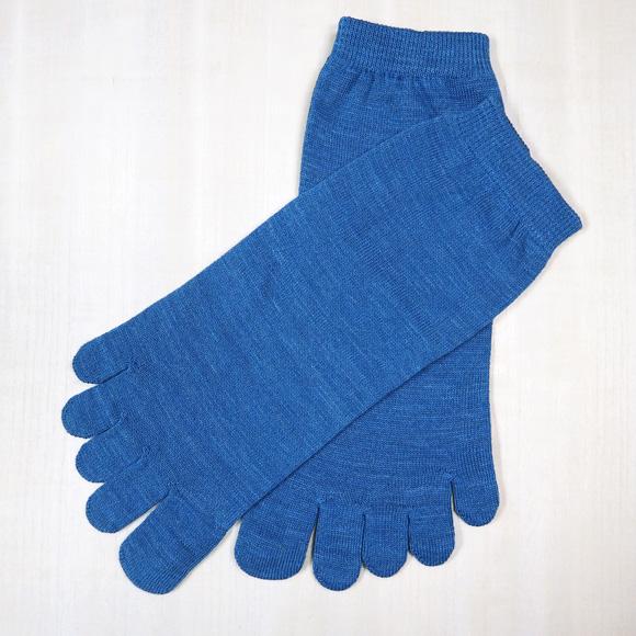 ORGANIC GARDEN(オーガニックガーデン)  藍のくつした 綿100% 5本指ソックス [NS8221]