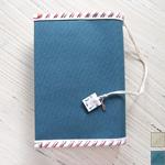 【2色から選べます】PEARL FISHER(パール フィッシャー) 帆布キャンバス 文庫本用ブックカバー エアメールデザイン [PF2014]