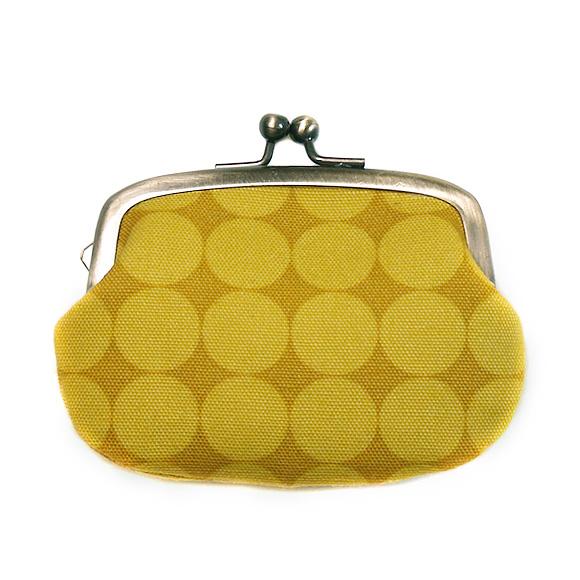 """poussette(プセット)がまぐち 2.9寸""""Large Dot Jaune Miel-ラージドット ジョーンミィル-""""[g29100016]"""