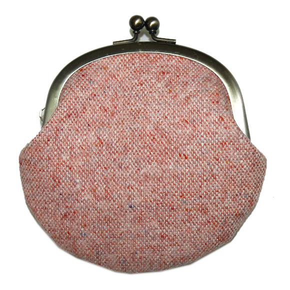 """poussette(プセット) がまぐち3.3寸<br> """"Tweed Pink−ツイード ピンク−""""<br> [g33080002]"""