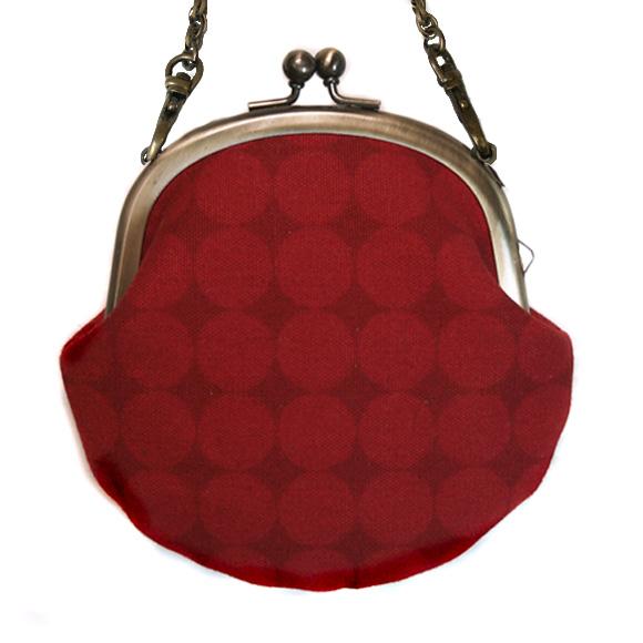 "poussette(プセット)がまぐち 3.3寸""Large Dot Rouge Somble -ラージドット ルージュソンヴル-""チェーン付き[g33100017k]"