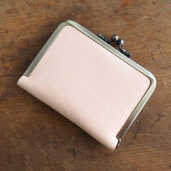 poussette(プセット) 3.5寸 ヌメ革 がまぐちパスケース [g35160001]