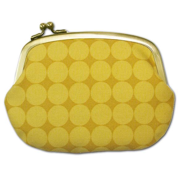 """poussette(プセット)がまぐち 4.5寸""""Large Dot Jaune Miel-ラージドット ジョーンミィル-""""[g45100016]"""