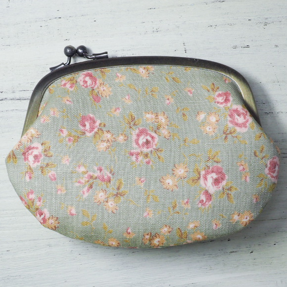"poussette(プセット) ""Flower printed linen -フラワープリンテッドリネン-"" [g45110012]"