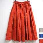 【3色から選べます】コットンタイプライター ロングスカート [RO-8283]