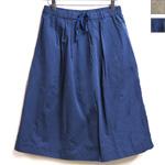 【2色から選べます】バーバリーコットン ドロストギャザースカート [RO-8284]
