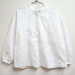 waltz for rolca (ワルツ フォー ロルカ) コットンタイプライター スタンドカラーシャツ ホワイト [RO-W-1012]