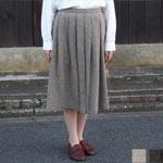 waltz for rolca(ワルツ フォー ロルカ) ウールへリンボン ひざ丈スカート [RO-W-8004]