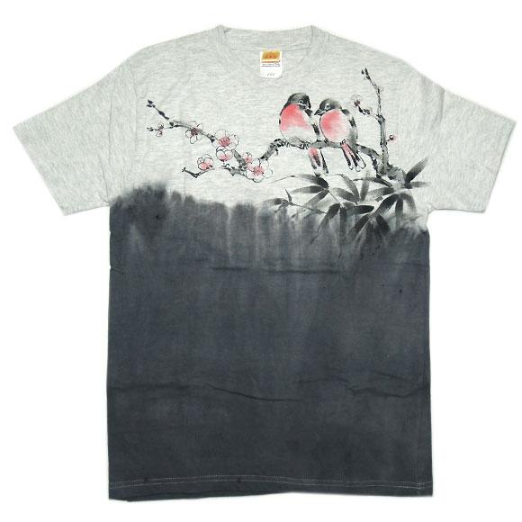 SEED 女性絵師 杉田扶実子 手描き和柄Tシャツ 半袖 白色 だるま メンズ・レディース [SE-TS3A-KB001]
