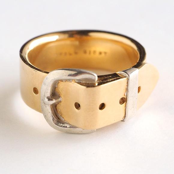 small right(スモールライト) 手作りアクセサリー ベルトリング Lサイズ cute ゴールド 18Kメッキ 7.3mm幅 [SR-RG-05]