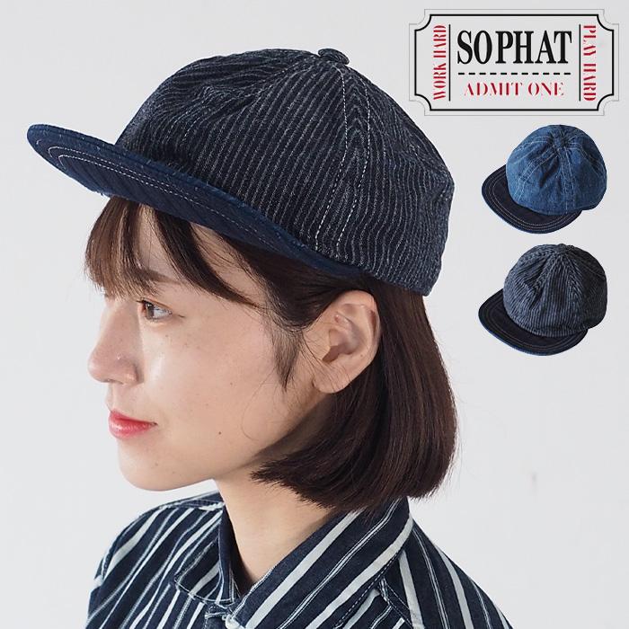 SO PHAT(ソーファット) ベースボールキャップ 帽子 ピケ インディゴ レディース・メンズ [GZ-SPHAT20-003]