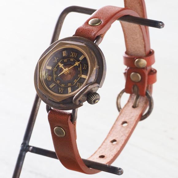 """vie(ヴィー) 手作り腕時計 """"antique wood -アンティークウッド-"""" Sサイズ レディース [WB-007S]"""