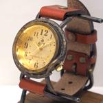 """vie(ヴィー) 手作り腕時計 """"hollyhock -ホーリーホック-"""" Mサイズ [WB-013M]"""