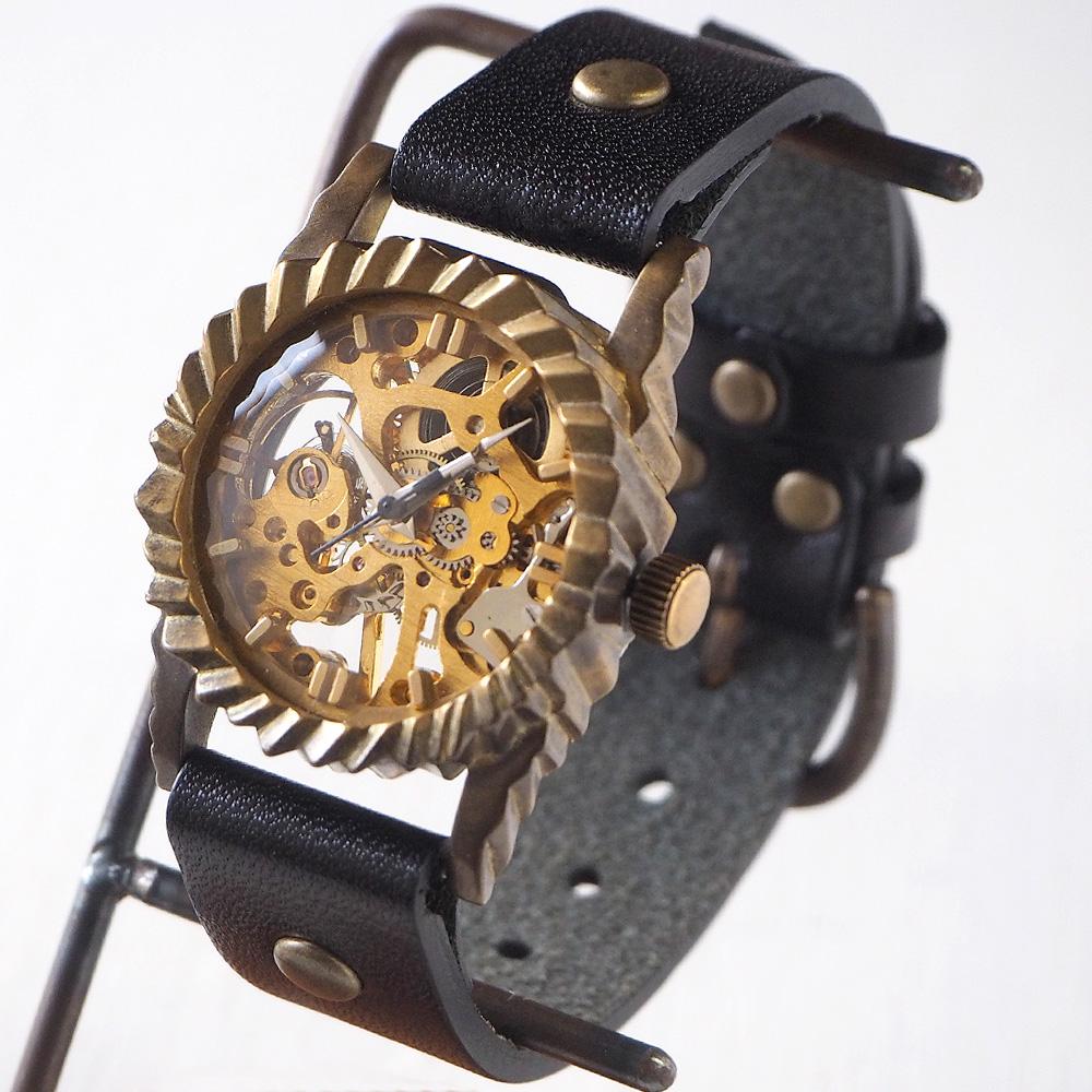 """vie(ヴィー) 手作り腕時計 手巻き式 """"GEAR -ギア-"""" [WB-034]"""