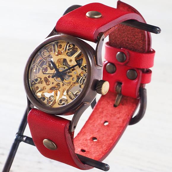 "vie(ヴィー) 手作り腕時計 手巻き式 ""compact mecha -コンパクト メカ-"" [WB-044]"