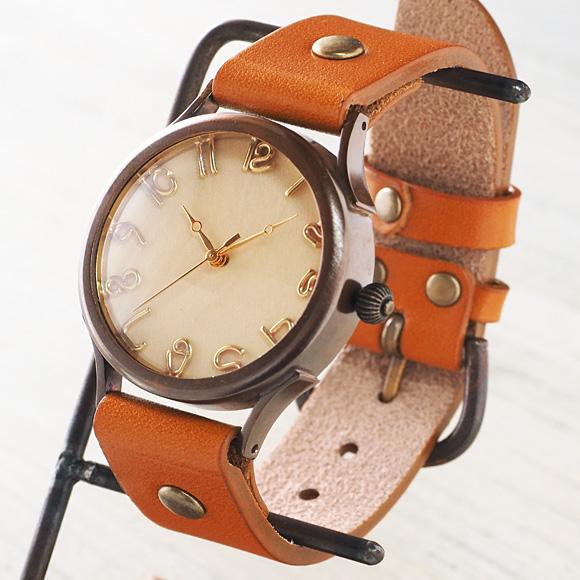 """vie(ヴィー) 手作り腕時計 """"simple wood -シンプルウッド-"""" Lサイズ [WB-045L]"""