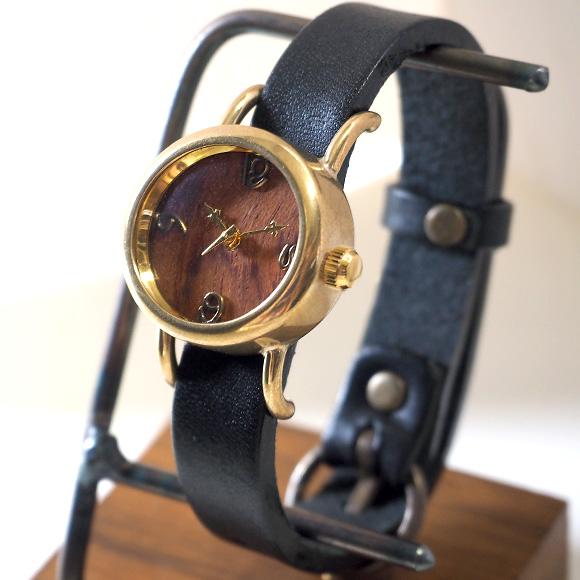 """【文字盤の木製パーツが選べます】 vie(ヴィー) 手作り腕時計 """"collon wood  -コロン ウッド-"""" 1重ベルト レディース [WB-051-S-BELT]"""