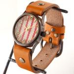 """vie(ヴィー) 手作り腕時計 """"DENIM STRIPE -デニムストライプ-""""Mサイズ [WB-061M]"""