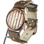 "vie(ヴィー) 手作り腕時計 ""DENIM STRIPE -デニムストライプ-""Lサイズ [WB-062L]"
