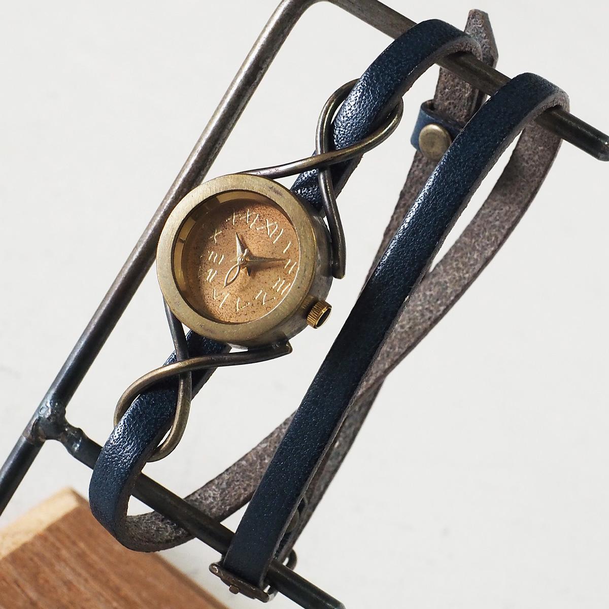 "vie(ヴィー) 手作り腕時計 ""nostalgie -ノスタルジー-"" 2重ベルト レディース [WB-068-W-BELT]"