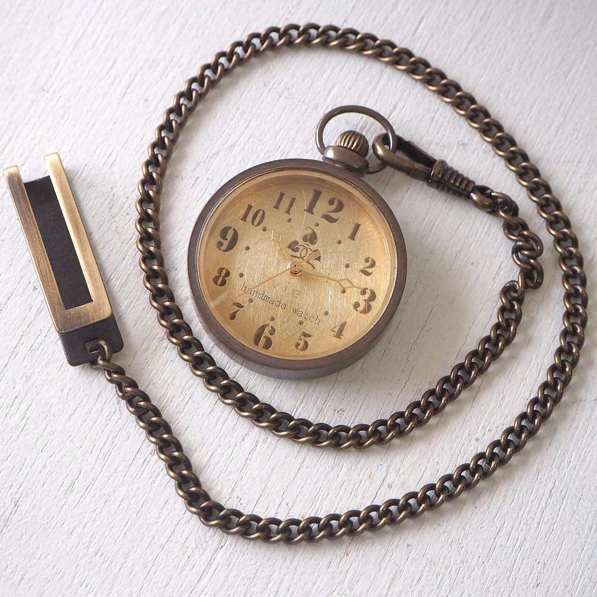"""vie(ヴィー) 手作り懐中時計 """"holly hock -ホーリーホック-"""""""