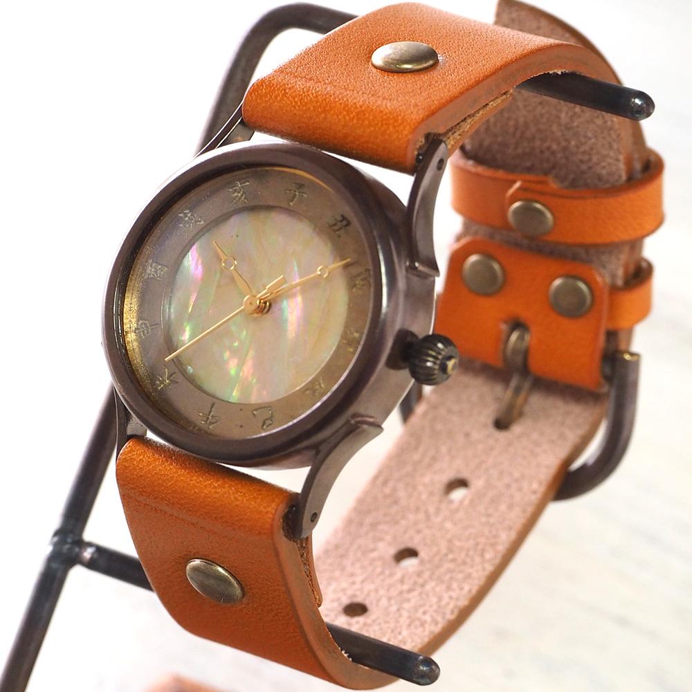 【文字盤のカラーが選べます】vie(ヴィー) 手作り腕時計 メイドインジャパン シリーズ 和時計 螺鈿文字盤 Mサイズ [WJ-001M]