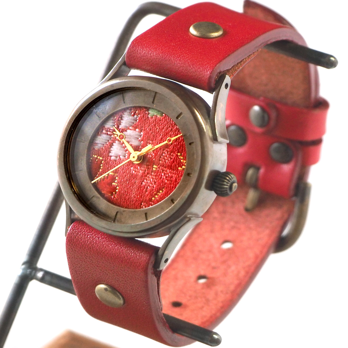 vie(ヴィー) 手作り腕時計 メイドインジャパン シリーズ 西陣織文字盤 Mサイズ [WJ-002M]
