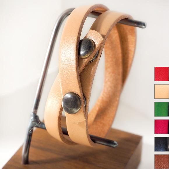"""vie(ヴィー) 手作り腕時計 """"イタリアンレザー Wブレスレット -9mm付け替え2重巻きベルト-"""" [WL002]"""