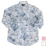 YoriTo(ヨリート)綿麻総柄七分袖シャツ [Y7S0002-01]