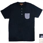 【2色から選べます】 YoriTo(ヨリート)ヘンリーネックポケットTシャツ [THNT0001]