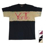 YoriTo(ヨリート)絞り染めロゴプリントTシャツ 半袖 [YT0003]