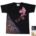 """禅(ZEN) 手描き和柄Tシャツ 半袖 """"鳳凰"""" レディース [KLTMG0004]"""