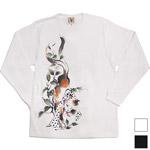 """【2色から選べます!】禅(ZEN) 手描き和柄Tシャツ 長袖 """"猫又"""" [KTLH0010]"""