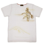 禅(ZEN) 手染め和柄Tシャツ 半袖 白 飛鷹 [KTMG0016-WH]